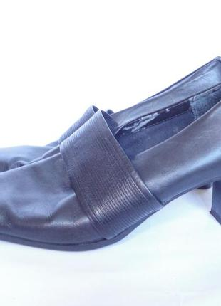 Туфли из натуральной кожи на широкие ножки р.42