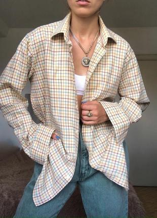 Винтажная рубашка в клетку