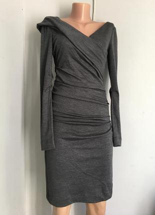 Шикарное платье из натуральной шерсти, люрекс бренд, оригинал.
