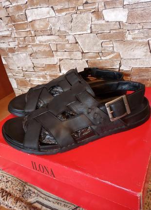 Германия,класс люкс!шикарные,красивые,кожаные сандалии,босоножки,шлепанцы,42р