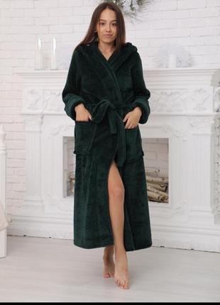 Махровые длинные халаты