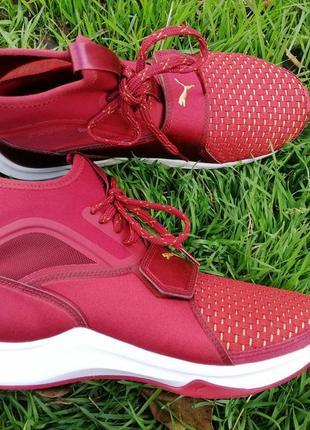 Кроссовки puma phenom varsity красные бордовые с белой подошвой оригинал