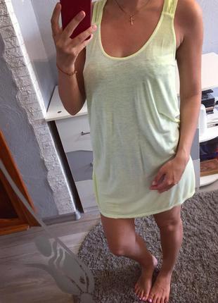 Брендовая удлинённая майка борцовка туника платье от hallhuber