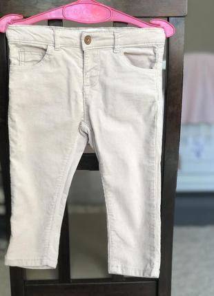 Вельветовые штаны, штанишки zara