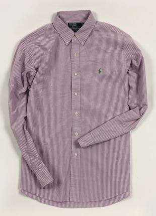 Z7 рубашка ralph lauren ральф лоурен полосатая розовая