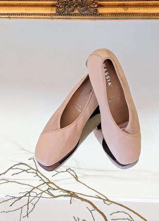 Туфли австрия бежевые натуральная кожа кожаные