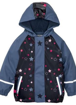 Курточка/дождевик на флисе lupilu для девочки