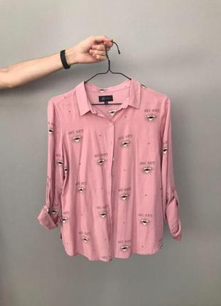 Легкая приятная к телу рубашка reserved