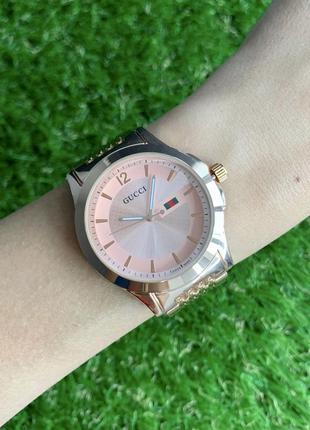 Женские наручные часы металлические розовое красное золото