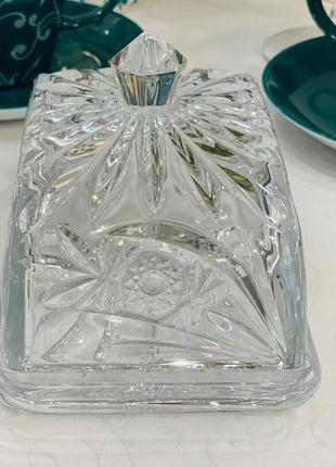 Масленка хрустальная конфетница хрустальная посуда хрустальная