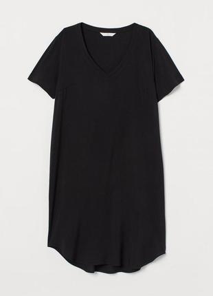 Платье с треугольным вырезом h&m 0706654003 черного цвета