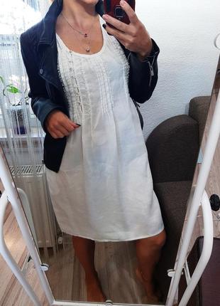 Платье, сарафан, свободного покроя, льоля, натуральная ткань, oversize, zara  оверсайз