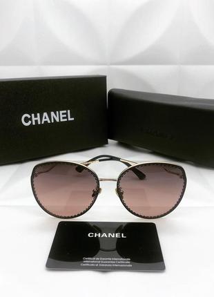 Женские солнцезащитные очки в стиле chanel 🔥люкс качество