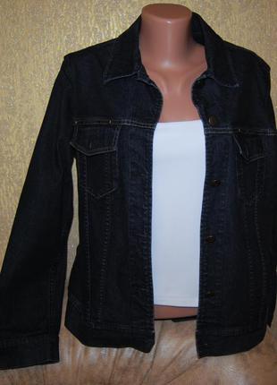 Практичный брендовый натуральный джинсовый пиджак куртка ветровка