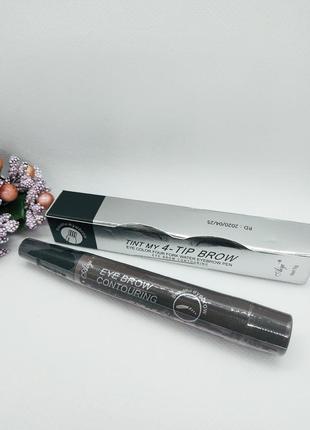 Маркер для бровей с эффектом микроблейдинга tint my 4 - tip brow  #4