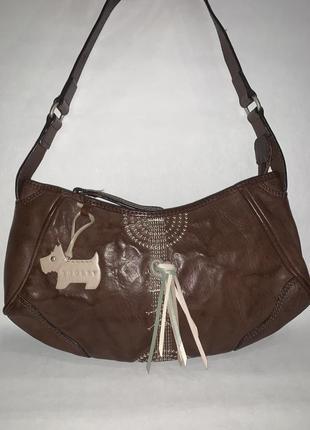 Англия! кожаная фирменная сумочка на плечо с брелком radley.