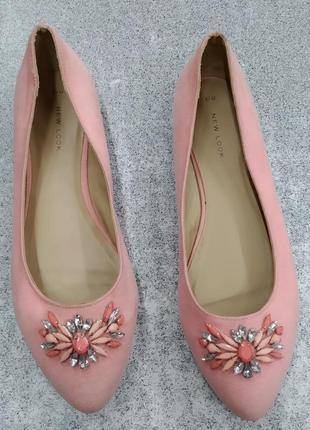 Балетки туфли с камнями new looc