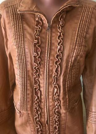 Женская куртка women's big chill vintage из искусственной кожи/кожанка