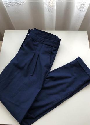 Синие брюки h&m s