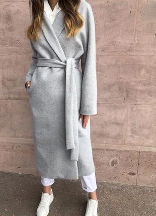 Стильне кашемірове пальто халат