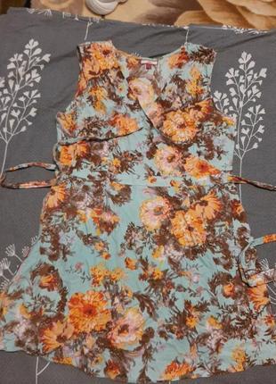 Платье на запах 12р