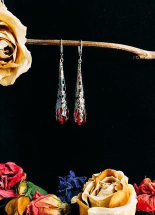 Романтичні кришталеві сережки «gothic spire»