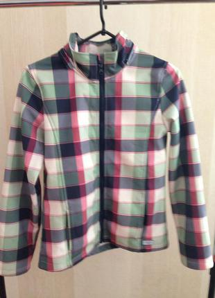 Стильная клетчатая куртка  tom tailor, оригинал для  девушки 15 16 лет .  скидка