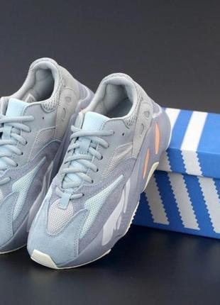 Кроссовки adidas yeezy boost 700 синего цвета (36-40)💜