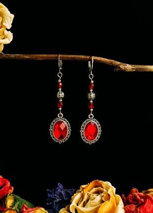 Pомантичні сережки «red mirror»