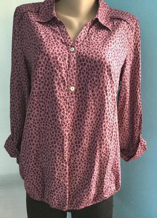 Блузка хлопок принт bonita удлиненная см замеры