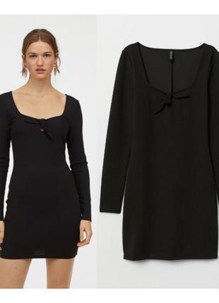 Черное платье креповый трикотаж