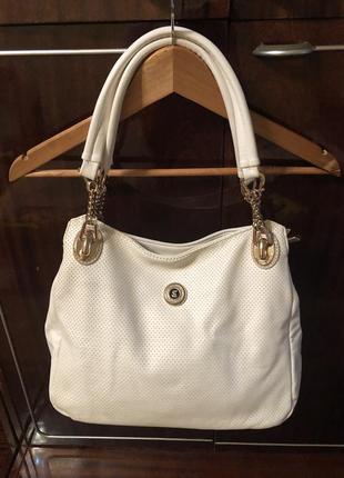 Белая сумка нарядная