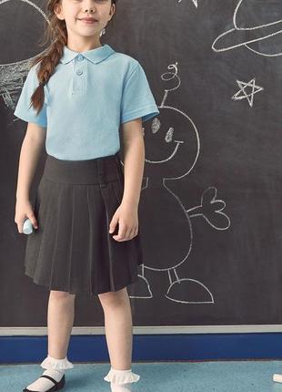 Школьная юбка в складку f&f, на девочку 11-12 лет, 146-152 см