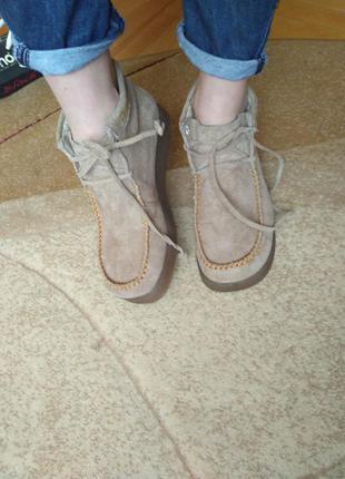 Фирменные кожаные ботинки hush puppies original