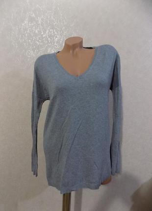 Пуловер кофта джемпер серый фирменный zara размер 52-54