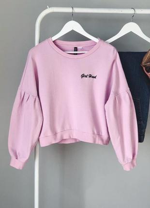 Розовый свитшот с надписью