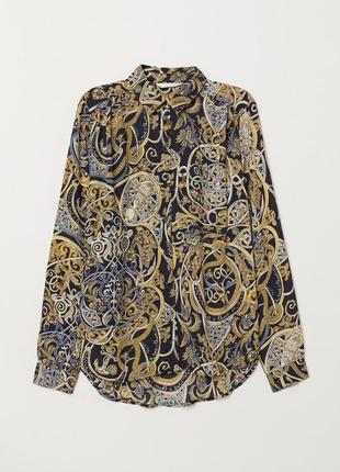 Блузка с длинным рукавом h&m 0667499008 черного цвета