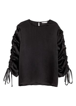 Блузка с кулисками h&m 0510556005 черного цвета