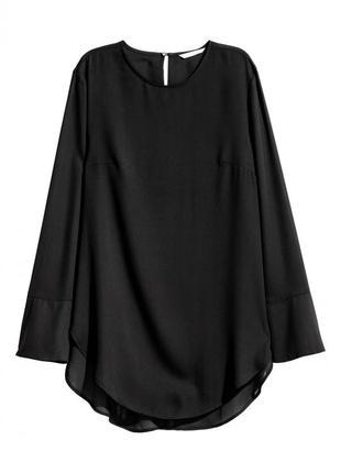 Блуза с длинным рукавом h&m 0421249005 черного цвета