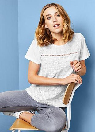 Модная футболка блузка с вышивкой тсм чибо. 2xl