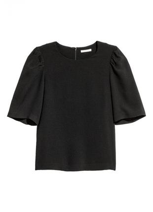 Блуза h&m 0548531001 черного цвета