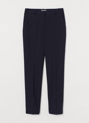 Костюмные брюки h&m 0568597007 синего цвета