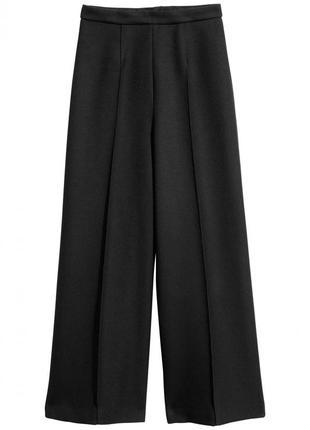Широкие брюки h&m 0611130003 черного цвета