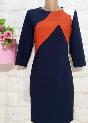 Платье миди прямого силуэта   на осень р 10 f&f