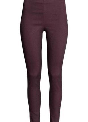 Эластичные брюки h&m 0304946004 фиолетового цвета