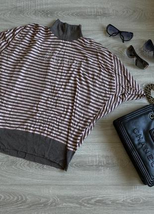 Теплый свитер гольф blumarine розово серый