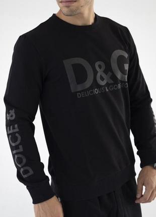 Мужской свитшот d&g черный
