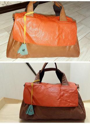 Вместительная сумка parfois на двух коротких ручках