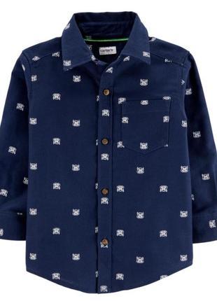 Фланелевая рубашка carters 3t