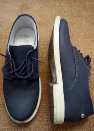 Стильние кожание туфли для мальчика